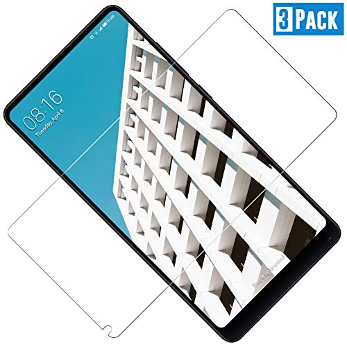 TOCYORIC Protector de Pantalla Compatible con Xiaomi Mi Mix 2[2-Pack, Cristal Templado] [Cristal + Resina] Vidrio Templado con [9H Dureza] [Alta Definicion] [2.5D Borde Redondo]