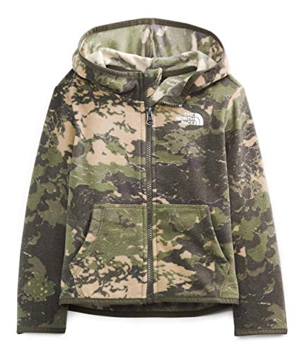 The North Face Toddler Glacier Full Zip Hoodie, New Taupe Green Tonal Cloud Camo Print, 6T