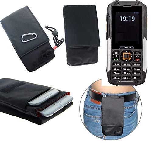 K-S-Trade® Gürtel Tasche Cyrus cm 16 Brusttasche Brustbeutel Schutz Hülle Smartphone Case Handy Schwarz Travel Bag Travel-Case Vertikal -
