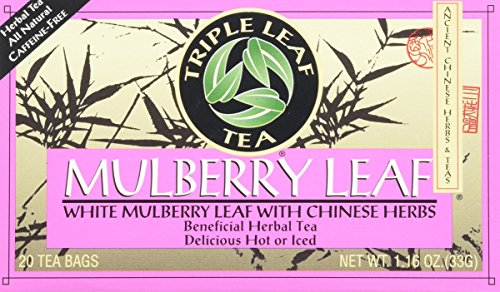Triple Leaf Tea Bags, Mulberry Leaf, 20 Count