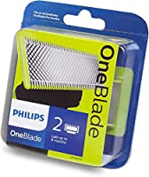 Philips One Blade - Replacable Blade that fits all OneBlade Handles, 2-pack, Lime, QP220/50