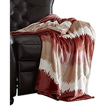 Amrapur 5OMBTRWG-RED-ST Ombre Red Oversized Luxury Throws, Standard