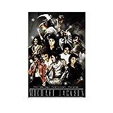 QINGF World Dance King Michael Jackson 4K HD Poster décoratif sur toile pour salon, chambre à coucher 30 x 45 cm