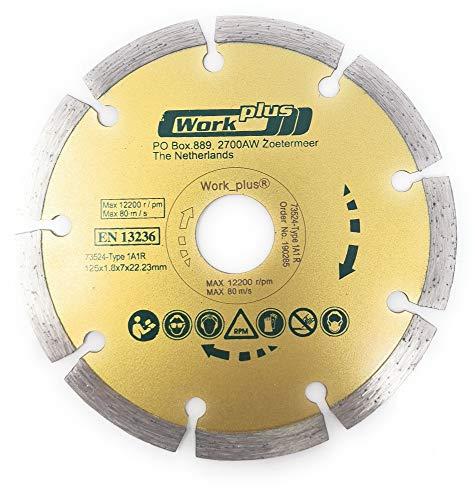 Toolzy Disco de corte de diamante 100038, 115 mm, EN13236