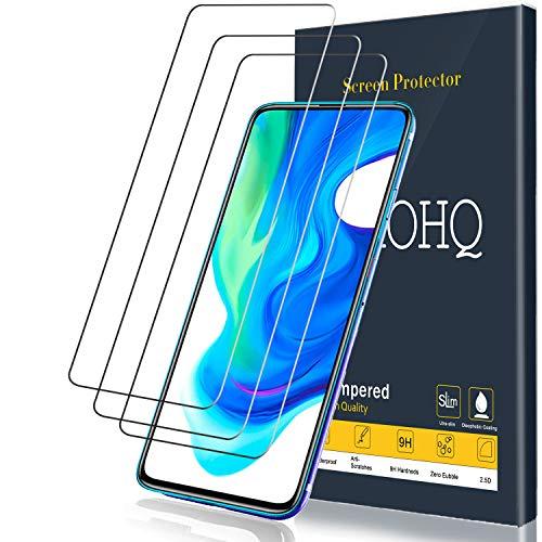 QHOHQ Protector de Pantalla para Xiaomi Poco F2 Pro, [3 Unidades], Cristal Templado Membrana, 9H Dureza - Sin Burbujas - Anti-Huella - Anti-Arañazos