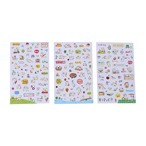 ZHXMD Cute Funny Cartoon Stickers Diary Scrapbook Calendar Label Decoration 1Pc