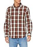 Carhartt Long-Sleeve Essential Open Collar Shirt Plaid Camisa, Sequoia, 2XL para Hombre