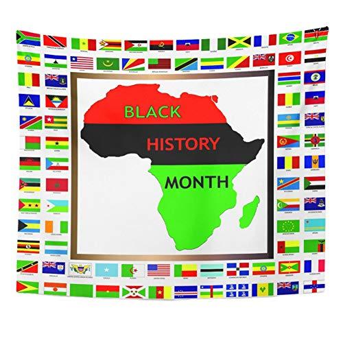 N/A Tapisserie Grün Zeigt Afrikanische Und Schwarze Kultivierte Flaggen Für Geschichte Tapisserie Home Decor Wandbehang Für Wohnzimmer Schlafzimmer Wohnheim Home Geschenk 52X60 Inches