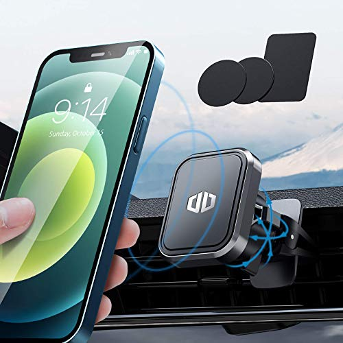 2021年モデルDesertWest 車載ホルダー マグネット ケース対応 スマホスタンド 車 超強磁力 360度回転 スマホホルダー 車 高級合金素材 スマホスタンド iPhone SE 12 12 pro max 11 XR X XS Sony Samsung HUAWEIなど4-7インチ全機種対応 48ケ月の安心保証