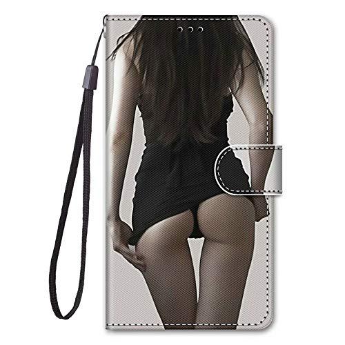 Miagon Full Body Flip PU Leder Schutzhülle für Samsung Galaxy Note 10 Plus,Bunt Muster Hülle Brieftasche Case Cover Ständer mit Kartenfächer,Mädchen