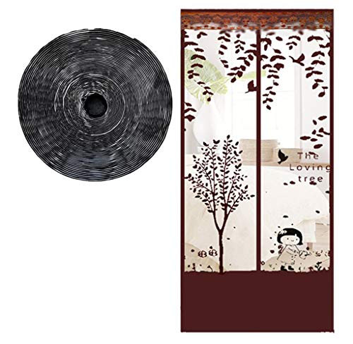 Magnetic Fly Insect Screen Door - 99 X 210Cm Super Quiet Stripes Encryption for Anti Mosquito Magnetic Soft Door Children's Room,90cm