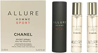 Chanel Allure Homme Sport Edt Vapo Refillable 3 X 20 Ml 1 Unidad 60 ml