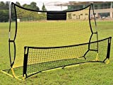 AIYMO Portable Soccer Trainer, 2 in 1 Soccer Rebounder Net to Improve Soccer Passing and Solo Skills, 6ft x 4.7ft