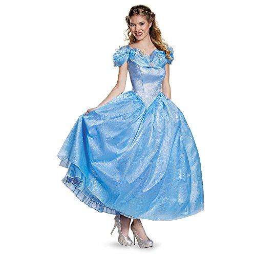 Disney Women's Cinderella Movie Adult Prestige Costume, Blue, Medium