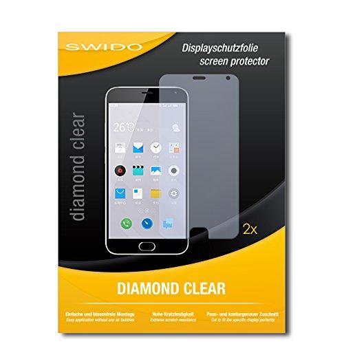 2 x SWIDO® Bildschirmschutzfolie Meizu M2 Note Schutzfolie Folie