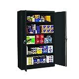 Tennsco J1878SUBK Assembled Jumbo Steel Storage Cabinet, 48'w x 18'd x 78'h, Black