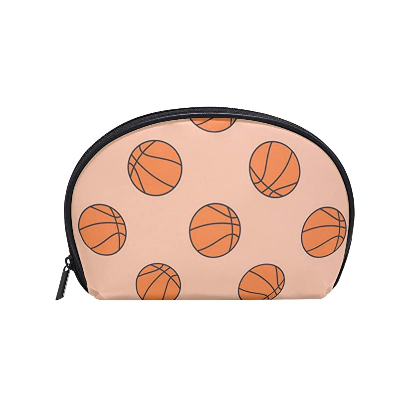 Basketball Hoop Hamper Small Cosmetic Bag For Women Fashion Compartment Travel Skincare Zipper Storage Bag