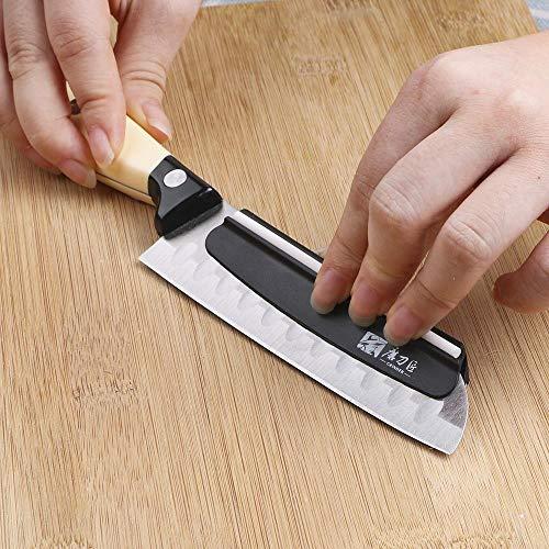JUECAN Messerschärfwinkel Kochanleitung Präzisions-Messerschärfer schnell Kochgeschirr dauerhaften Keramikstreifen