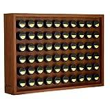 AdirChef Wooden Spice Rack - Includes 60 3.5oz Jars- Walnut (25' x 17.5')