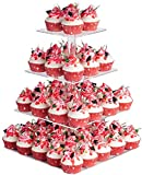 YestBuy 4 Tier Maypole Square Wedding Party Tree Tower Acrylic Cupcake...