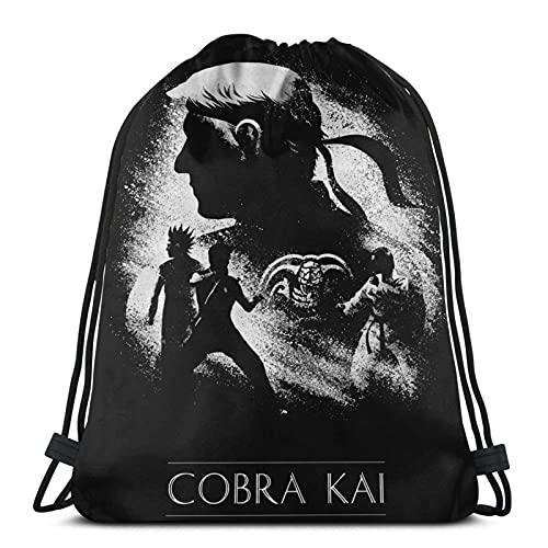 XCNGG Cobra Kai Mochila con bolsillo con cordón Mochila con bolsillo con cordón Saco con cordón Gimnasio Compras Deportes Yoga