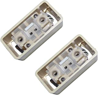 角型引掛けシーリングアダプター,PSE認証 250V 6A 引掛シーリングボディ 角型 PSEマークあり - 2ケセット