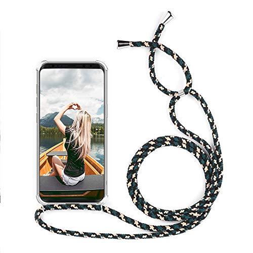 Coque pour OnePlus 6, ZHXMALL Transparente Collier de Téléphone avec Cordon Housse - Mode Design Étui avec Lanyard Mains Libres Case