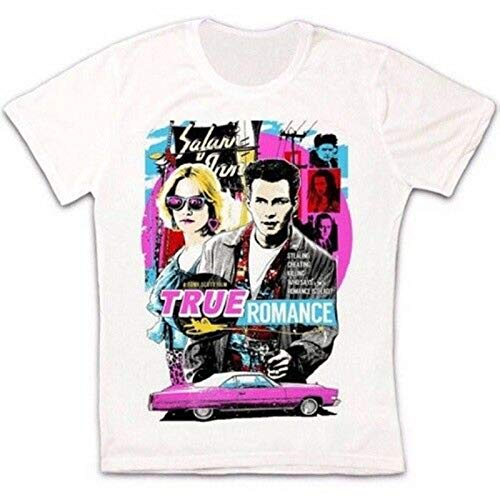 KAIYUAN True Romance Movie Poster Slater Hopper Tarantino Retro Unisex T Shirt-White/Mens,XL