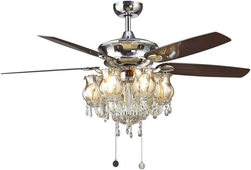 Indoor Cash special price Low Profile Ceiling Fan 52 Iron Nordic Inches LED Popularity Crystal