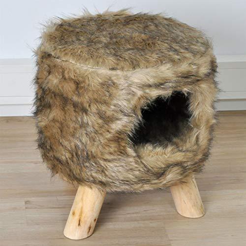 VOSS.PET Katzenkratzbaum Katzenhocker Coco, Mokka Katzenhöhle Kratzbaum super kuschelig