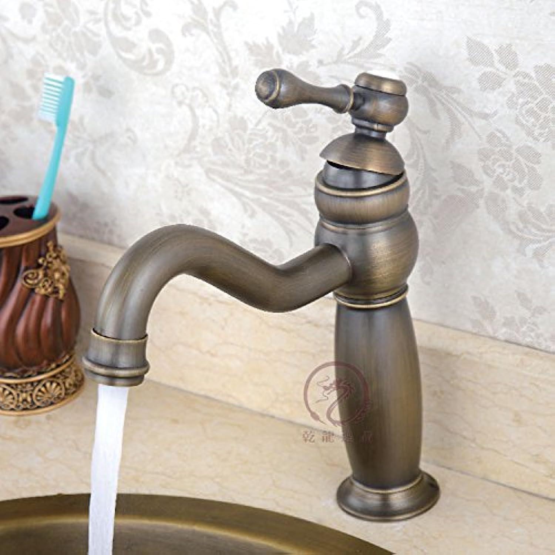 YFF@ILU Home deco Vintage Kupfer mit warmen und kalten kontinentalen Badezimmer Waschbecken Wasserhahn