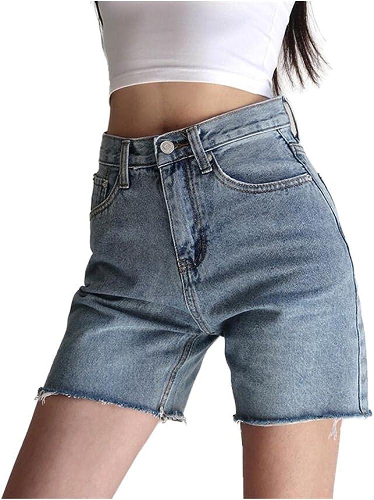 NP Women's Denim Shorts Female Black High Waist Shorts Jeans Summer Harajuku