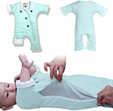 Baby Sleepsuit with Adjustable Ventilation for Transitioning Your Infant from Swaddling - Soft Sleep Suit Allows Baby to Move - Wearable Infant Swaddle Blanket for Babies 3-7 Months