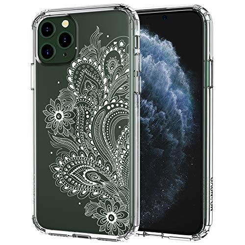 MOSNOVO iPhone 11 Pro Hülle, Paisley Floral Henna Mandala Muster TPU Bumper mit Hart Plastik Hülle Durchsichtig Schutzhülle Transparent für iPhone 11 Pro (2019)