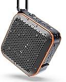Bluetoothスピーカー KIYEDAMワイヤレス ミニ ポータブルIPX7防水防塵 耐衝撃 FMラジオ機能 大音量 TWS対応 車載 風呂用 アウトドア 内蔵マイク AUXケープルポート USB充電 カラビナ