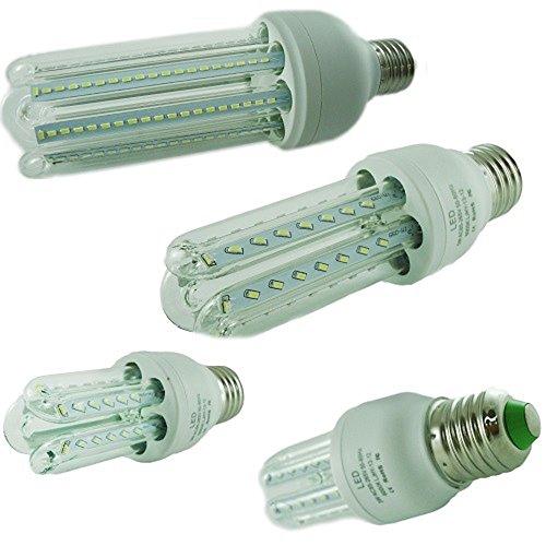 KIT 4 LAMPADINE LED ATTACCO E27 12W = 120W FARETTO LUCE BIANCO FREDDO 6500K LUNGA DURATA LED DI ULTIMA GENERAZIONE, ULTRA LUMINOSI ED EFFICIENTI