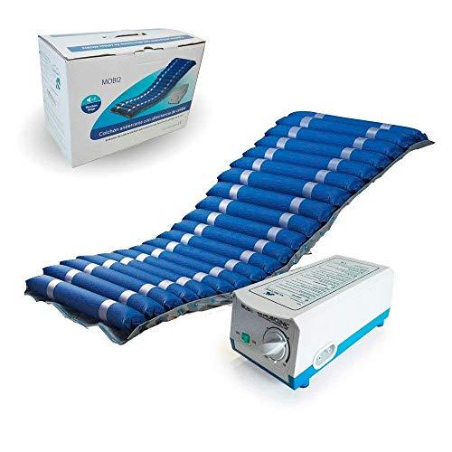 Colchón antiescaras de aire | Con compresor | Nylon y PVC | 200 x 86 x 9.5 | 20 celdas | Azul | Mobi 2 | Mobiclinic