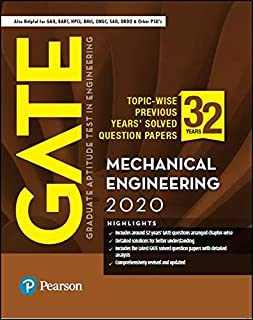 GATE Topic-wise Previous Years' Solved Question Papers Mechanical Engineering