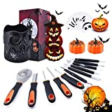 Halloween Pumpkin Carving Kit, BQYPOWER 24 Piece Professional Pumpkin Cutting Tools Set Heavy Duty Stainless Steel Carving Tools for Pumpkin Jack-o-Lanterns with Black Storage Bucket Pumpkin Lanterns
