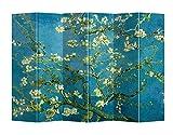 Fine Asianliving Paravent Raumteiler Trennwand Spanische Wand Raumtrenner L240xH180cm Bedruckte Canvas Sichtschutz Leinwand Doppelseitig -203-414-6