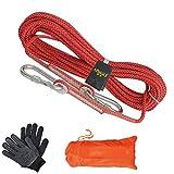 Cuerda de Seguridad, 10m 20m 30m 50m 80m 100m, Rappelling Auxiliar, Escalada Profesional Cuerda de Seguridad de Trabajo Aéreo, Ligero, 8mm de diámetro, Resistente al desgaste Red-8mm/100M