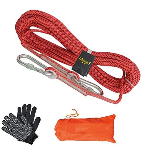 Outdoor Rock Climbing Fune, Intrecciata Naturale, Resistente, Multifunzionale, 10m 20m 30m 50m 80m 100m, Campeggio, Fire Rescue Paracadute, Diametro 8