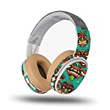 MightySkins Skin Compatible with Skullcandy Crusher Wireless - Crazy Tikis | Protective, Durable, and Unique Vinyl Decal wrap Cover | Easy to Apply, Remove, and Change Styles | Made in The USA