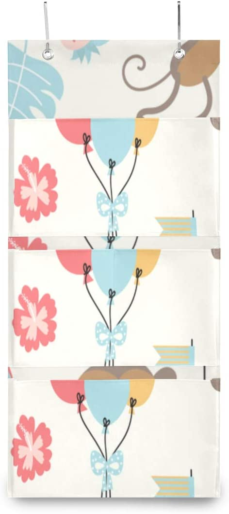 XDCGG Hanging Storage Bag Birthday Cute Stor Sales of SALE excellence items from new works Monkey Cake Pattern