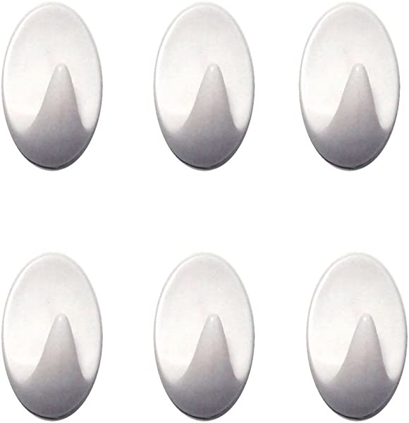 Hometeq 6 Pack Mini Strong Adhesive Hooks Sticky Wall Mount Hooks For Bathroom Kitchen Office