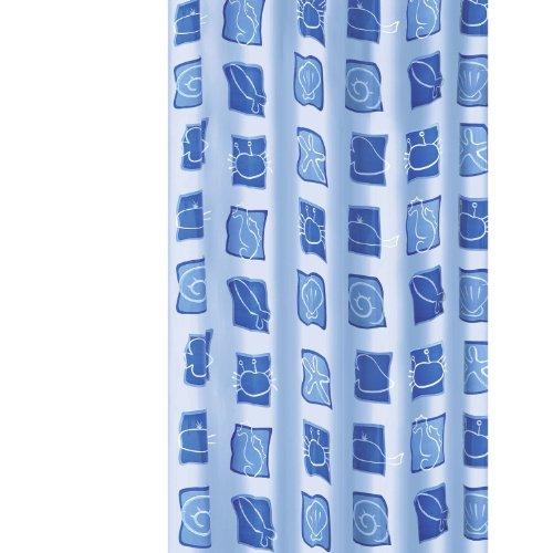Meusch 2257700305 Duschvorhang Blue Sea, 180 x 200 cm, blau