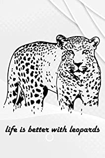 Life Is Better With Leopard: 110 Lined Pages for a Dream Diary or Journaling, with Matte Cover Art for Women and Leopard L...