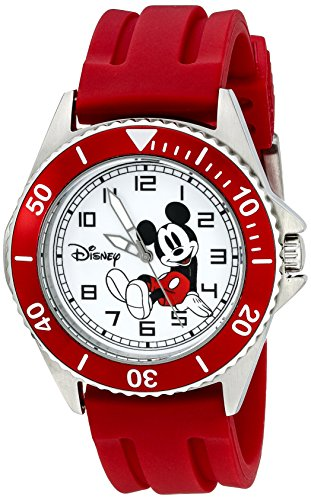 Disney Men's W002392 Mickey Mouse Watch with Red Band