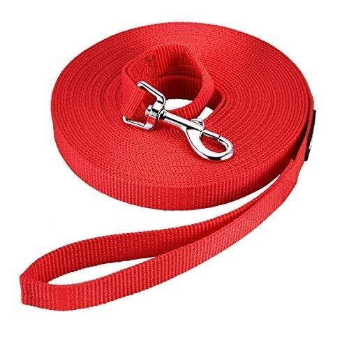 HAPPY HACHI Schleppleine Geflochten Hundeleine führen Lange Seil Nylon Gurtband Recall Ausbildungsleine Leine für Pet