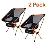 Sportneer Camping Chair, Ultra Light Garden Chair Portable Folding Chair with Carry Bag